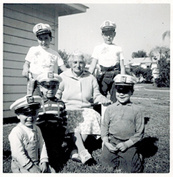 Chris, his 4 brothers and their grandmother