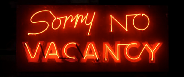 Sorry No Vacancy