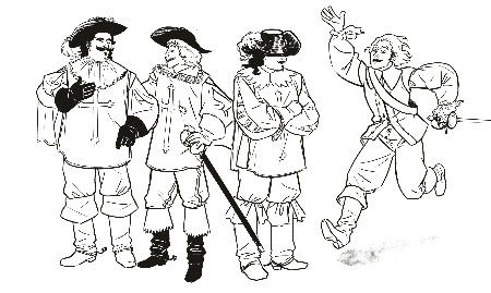 Three Musketeers and D'Artagnan